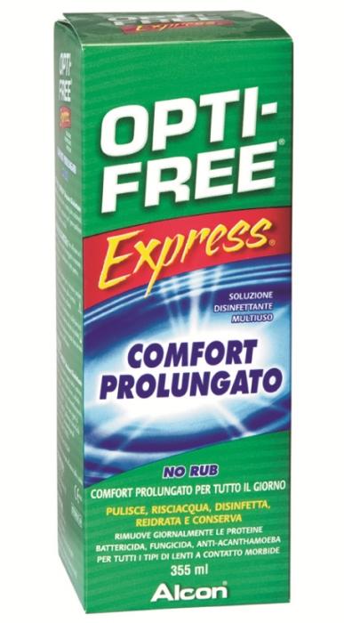 Opti free express 355 ml soluzione unica + portalenti
