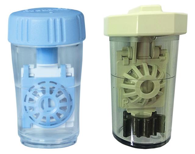 Contenitore cestello per lenti a contatto morbide Contenitore cestello per lenti a contatto con catalizzatore
