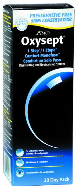 Oxysept comfort 300 ml perossido + 30 cp + contenitore
