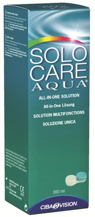 Solocare Aqua 360 ml soluzione unica + portalenti